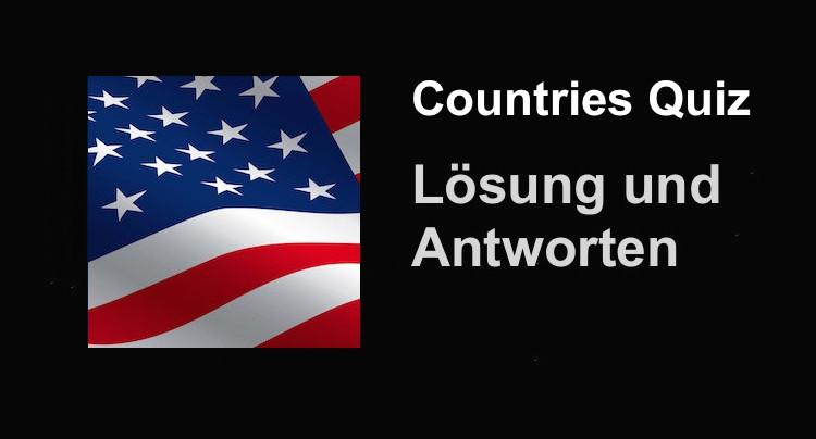 Countries Quiz Lösung