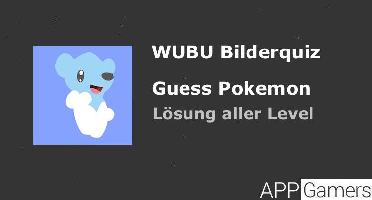 wubu guess the pokemon l sung mit antworten aller level. Black Bedroom Furniture Sets. Home Design Ideas
