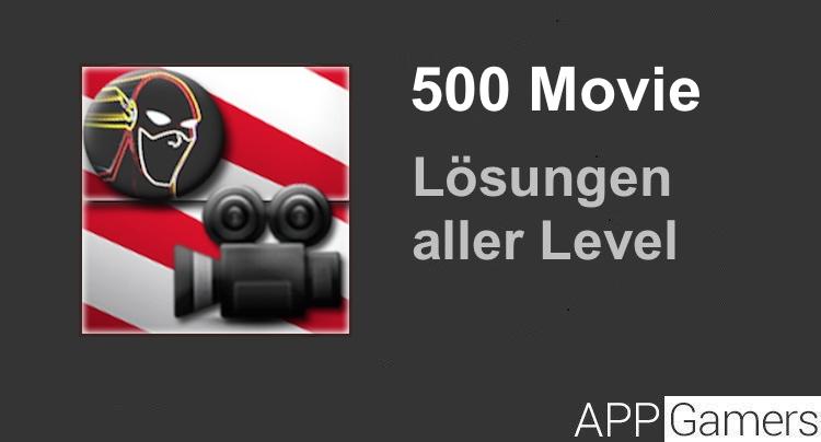 500 Movie Lösung aller Level