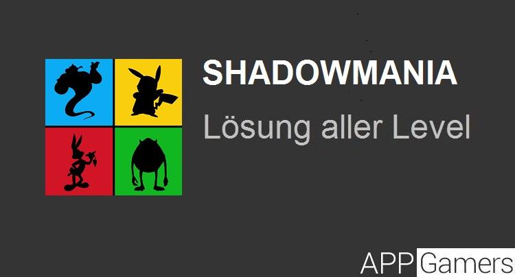 Shadowmania Lösung aller Level
