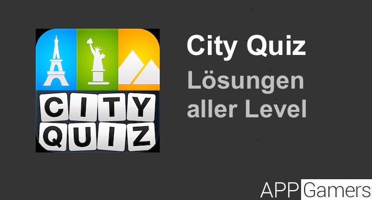 City Quiz Lösung aller Level