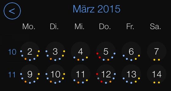 miCal - Kalender App für Apple iPhone und iPad mit Update