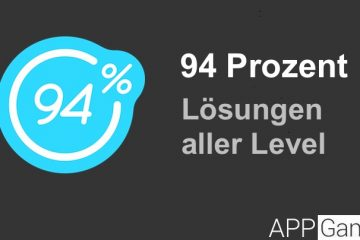 94 Prozent Lösung aller Level