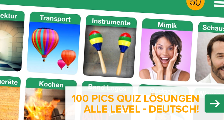 100 Pics Quiz Lösung aller Level