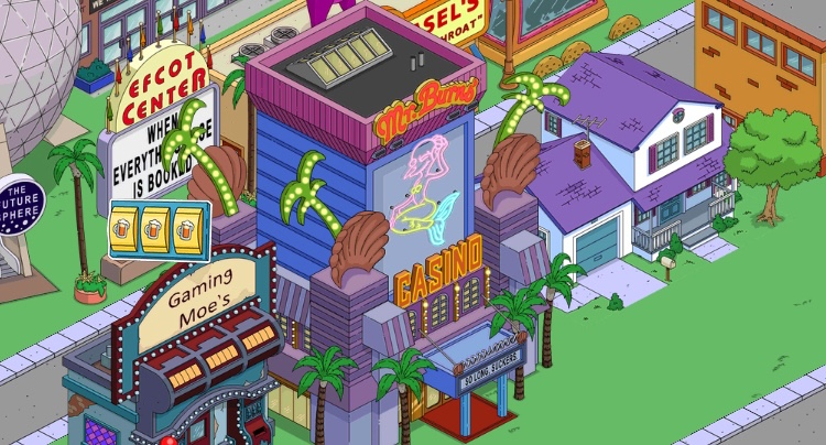die simpsons casino