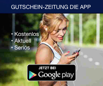 Gutschein-Zeitung.de Mobile App Play Store Download Ad