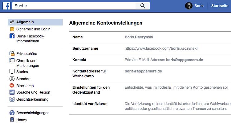 Facebook Konto Account löschen deaktivieren