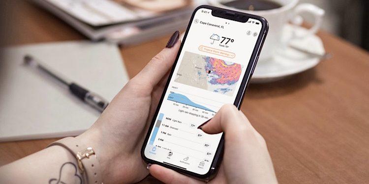 Apple Dark Sky Wetter App