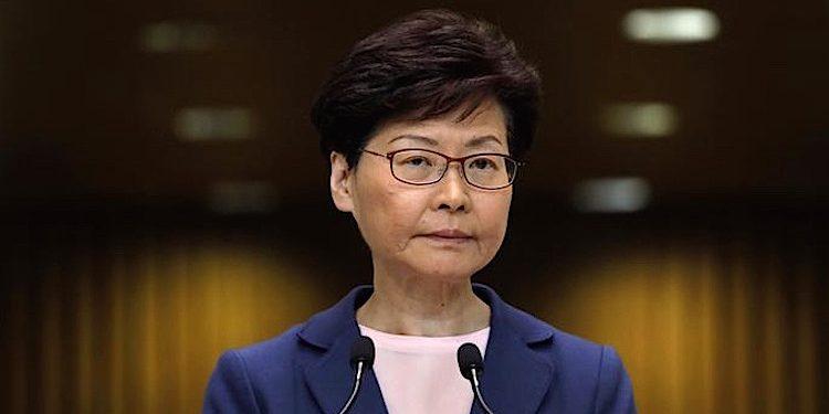 Hongkong Sicherheitsgesetz Carrie Lam Facebook