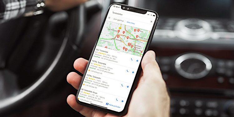Google Maps: Benzinpreis Anzeige von deutschen Tankstellen