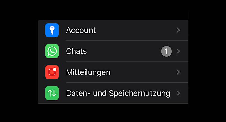 WhatsApp Nutzerkonto löschen